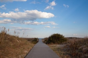 The sand dune path to the water at my listing on 83rd Street.